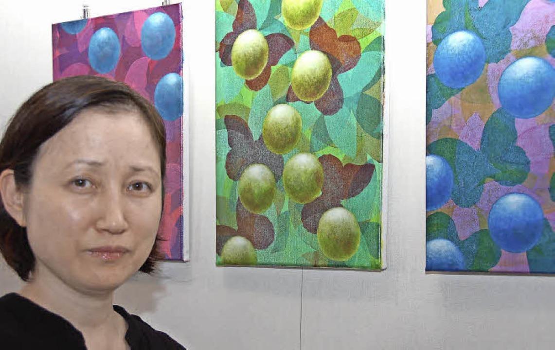 Ausstellung im Gundelfinger Rathaus mit Werken von Mi Jean Kang  | Foto: Andrea Steinhart