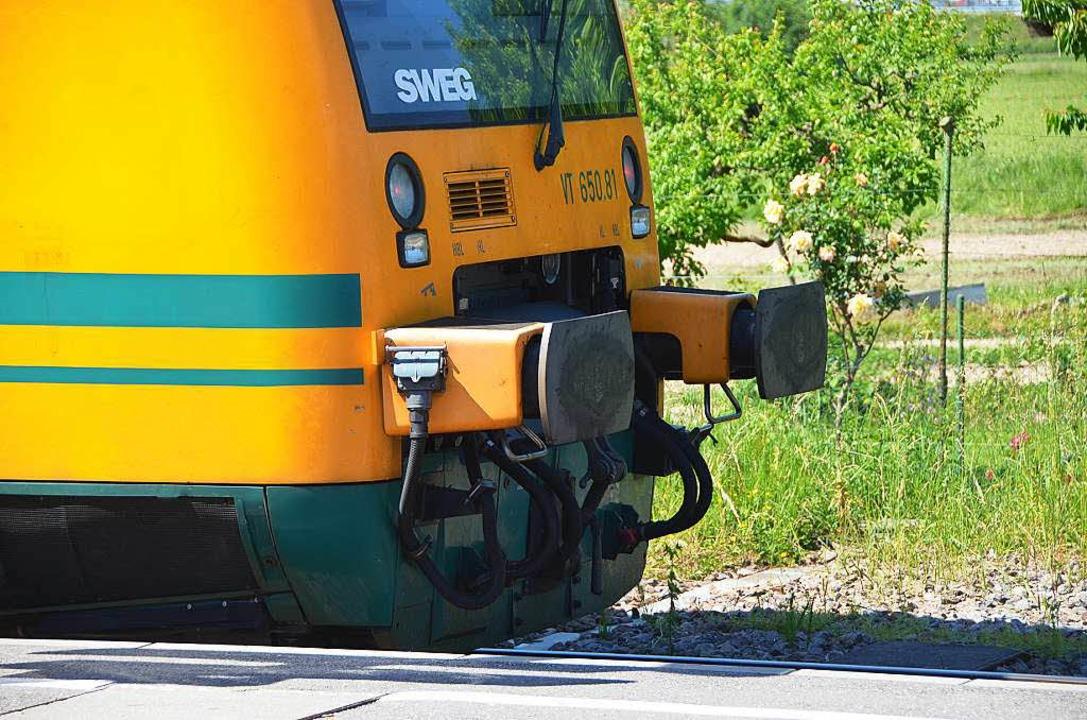 Leihfahrzeuge der SWEG helfen der Brei...us Ostdeutschland angemietetes Modell.  | Foto: Manfred Frietsch