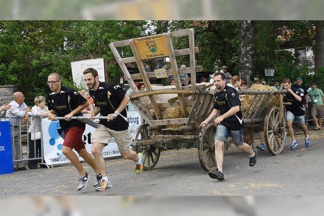 Einige Leiterwagenteams liefen heiß
