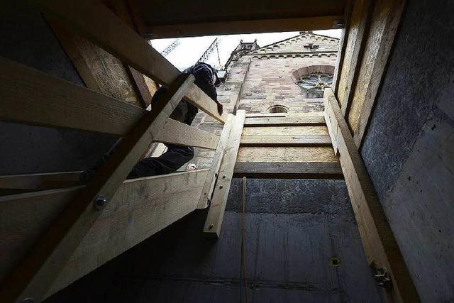 Stauraum unterm Pflaster: Münsterkeller und Lastenaufzug nehmen Gestalt an