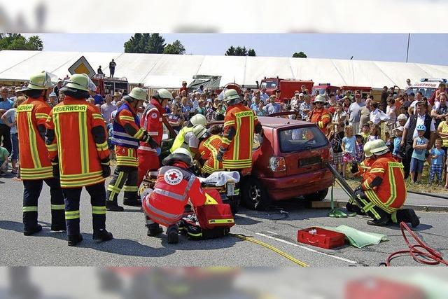 Eine eindrucksvolle Präsentation der Rettungskräfte