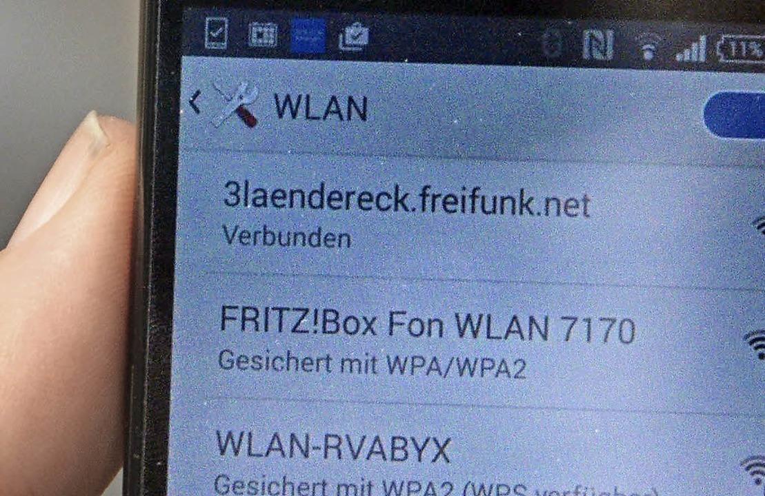 Über   3laendereck.freifunk.net geht&#...in (noch) nicht geredet werden kann.      Foto: Dorweiler