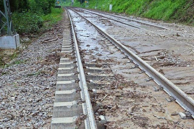 Bahnstrecke bei Efringen-Kirchen bis Sonntag gesperrt