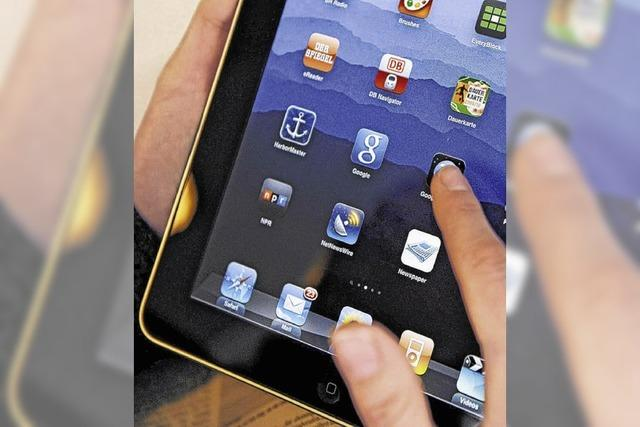 Den Umgang mit dem Tablet lernen