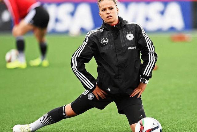 DFB-Frauen vor dem Spiel gegen Norwegen