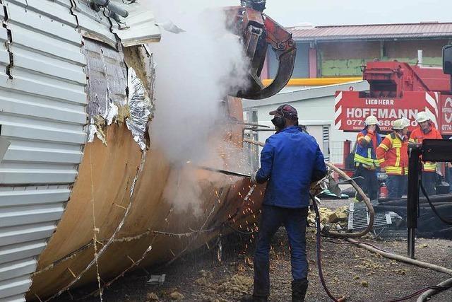 Hochsilo brennt in Grafenhausen