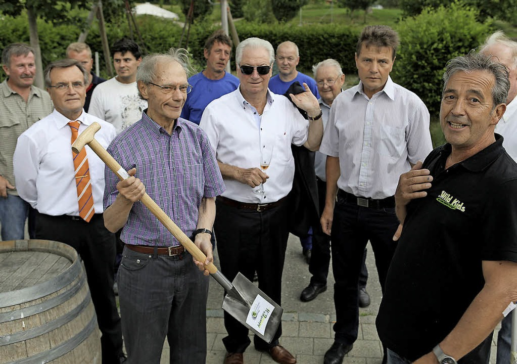 """Mister Golfwelt"": Hubert ...h und das neue Vollwärmeschutzsystem.   | Foto: Frank Linke"