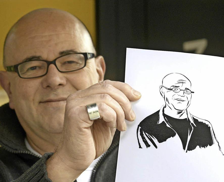 Übersetzer Ulrich Pröfrock, porträtiert von Reinhard Kleist  | Foto: Ingo Schneider