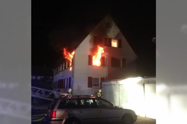 Brand in Wohnhaus in Waldkirch- drei Bewohner verletzt