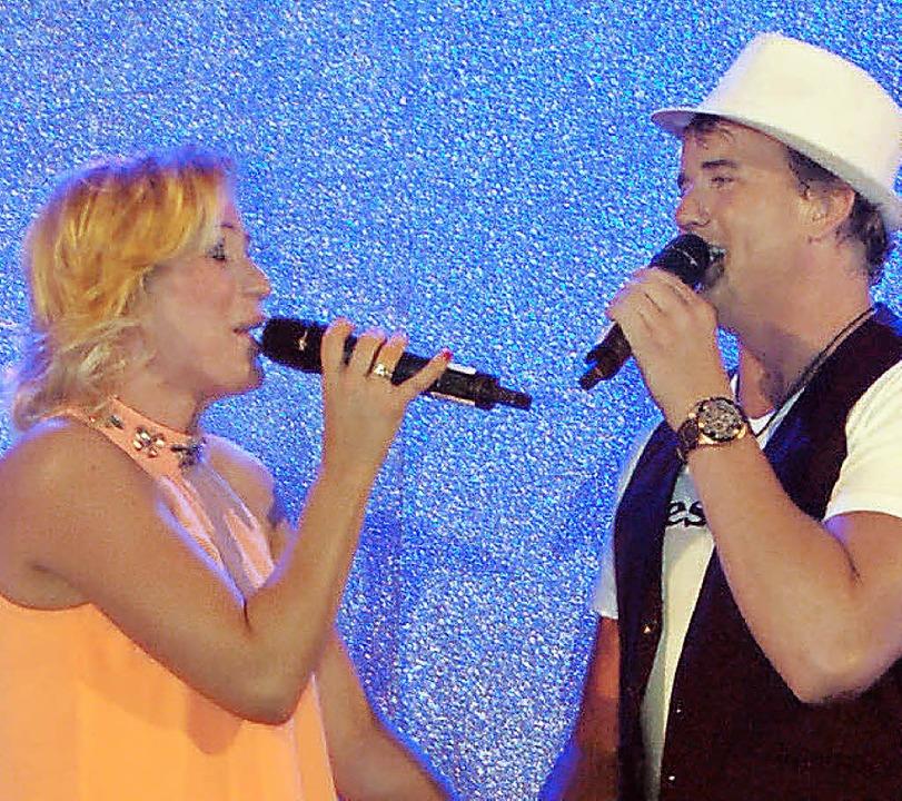 Sängerin Liane und Reiner Kirsten im Duett  | Foto: Christian Ringwald