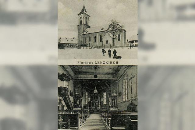 Nur der alte Kirchturm blieb stehen