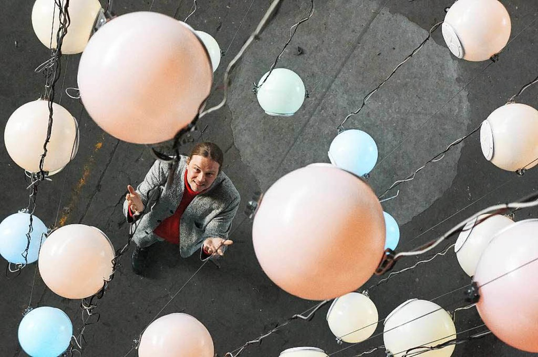 Tim Otto Roth unter seinem Himmelskarussell im Ruhezustand.   | Foto: Privat