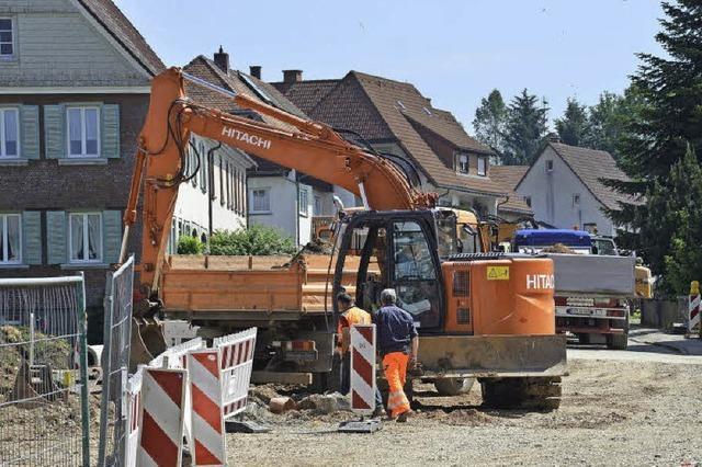 Bautrupp leistet ganze Arbeit