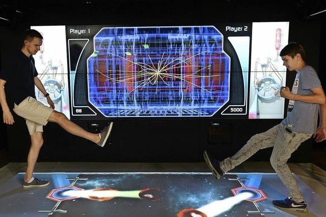 Eine interaktive Ausstellung im Bürgehraus Seepark macht Physik erlebbar