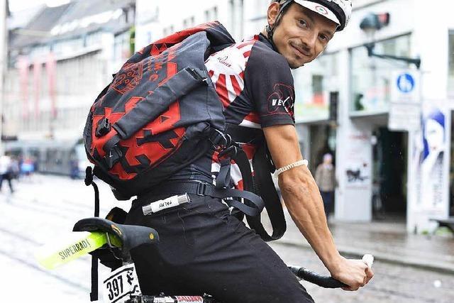 Johannes Kratzert wird in Mailand neuer Europameister der Radkuriere