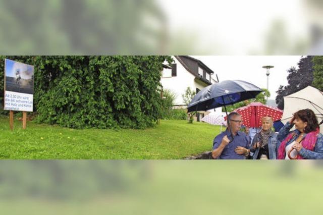 Bürgerinitiative macht auf Belastungen durch die Kandertalbahn aufmerksam