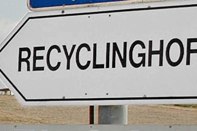 Hoffnung auf eigenen Recyclinghof