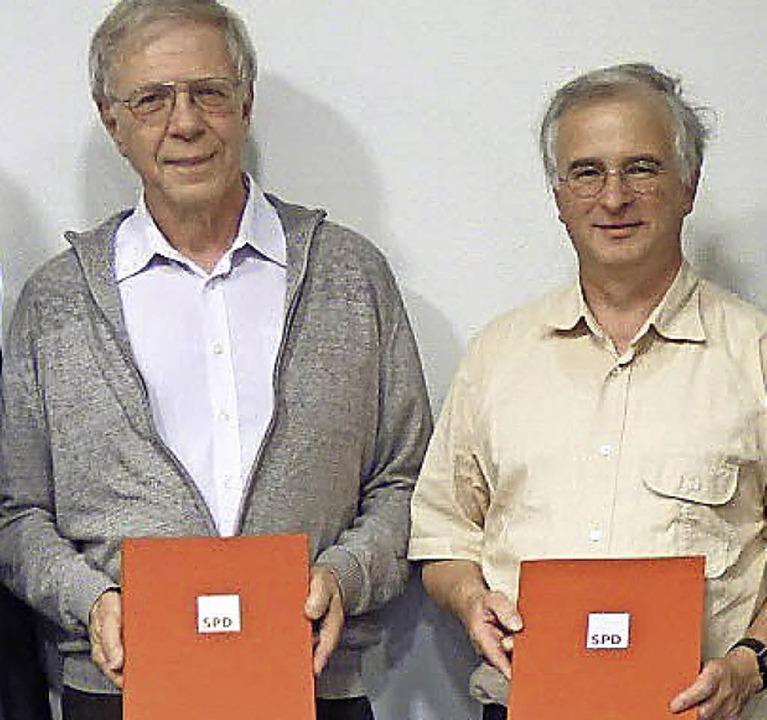 Lange in der SPD: Peter Gräber (links) und Albert Zähringer  | Foto: BZ