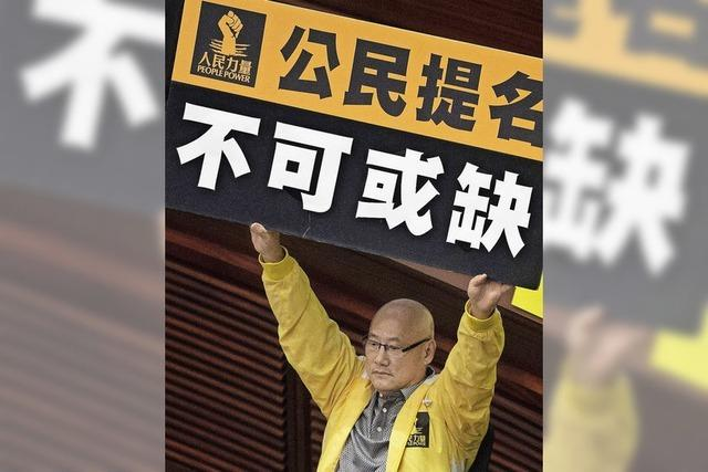 Hongkong entscheidet über Wahlgesetz