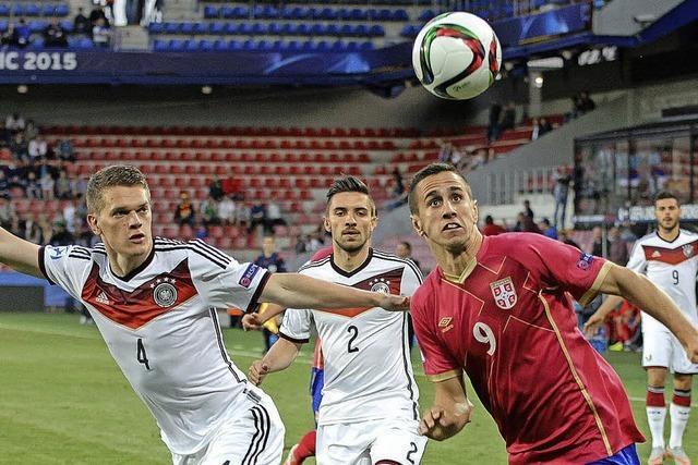 U21 spielt 1:1 gegen Serbien - Gelb-Rot für Günter