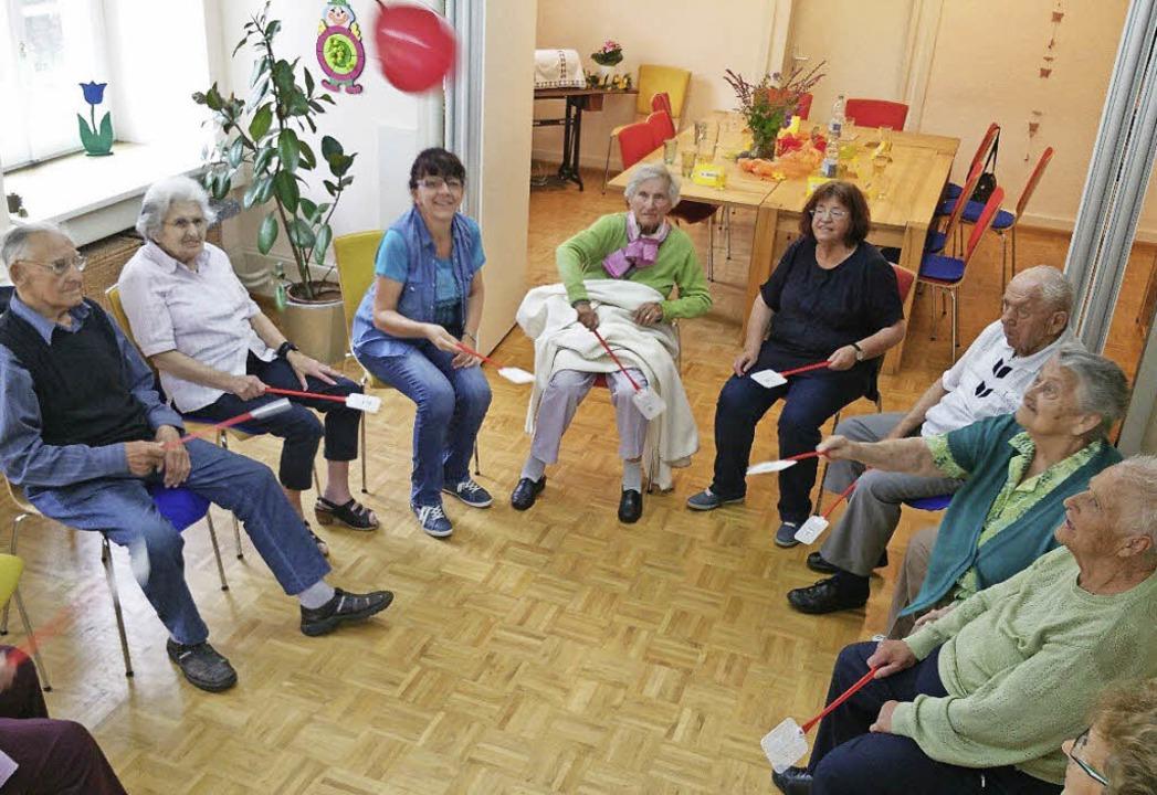 In der Betreuungsgruppe der Sozialstation.    Foto: ZVG