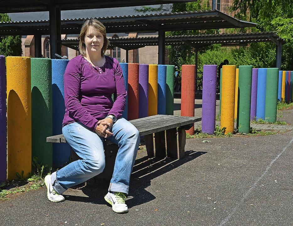 Daniela Haberzeth wieder zu Hause auf dem Schulhof des MPG   | Foto: S. Ehmann