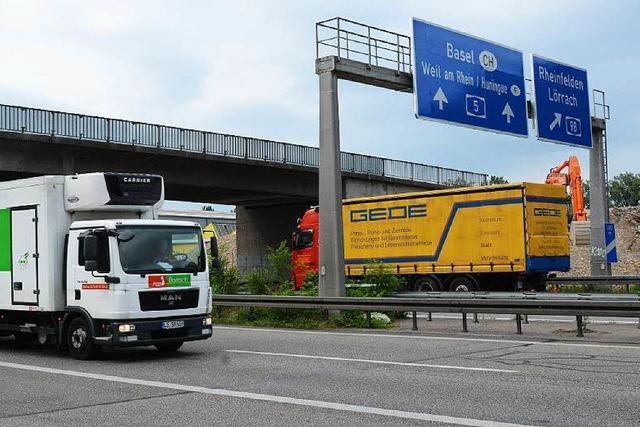 Brücke wird abgerissen – A 5 bei Weil am Rhein gesperrt