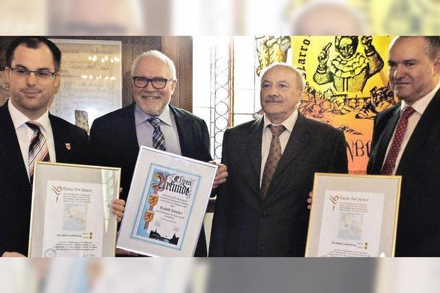 Neue Friedensstadt vergibt neuen Friedenspreis