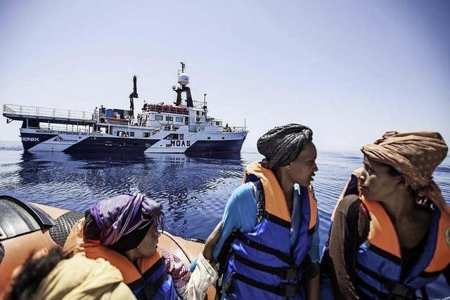 Private Rettungsaktion für Flüchtlinge im Mittelmeer