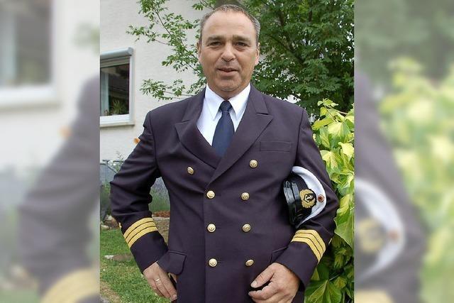 Martin Beck aus Oberschopfheim führt demnächst ein Containerschiff