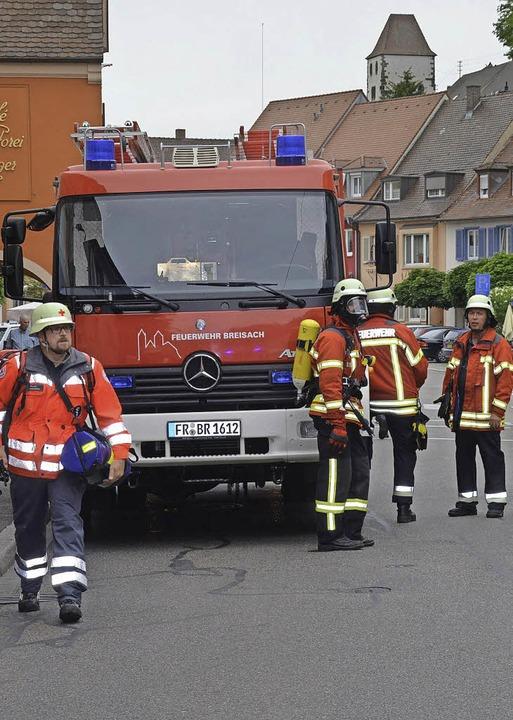 Zu einem Einsatz in der Breisacher Sta...kte am Montagmittag die Feuerwehr aus.    Foto: Zink