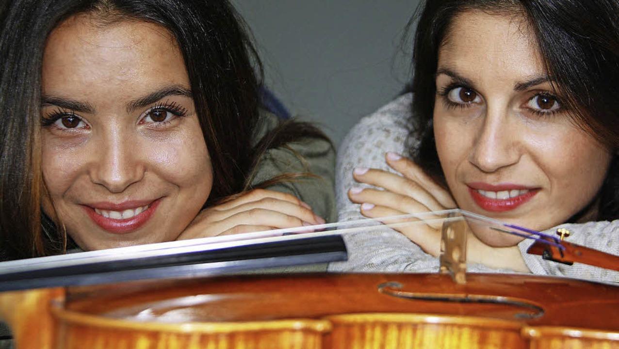 Konzertieren bei den Laufenburger Kult...Geschwister Natalia und Aloisia Dauer   | Foto: zvg