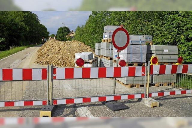 Tempokontrollen auf Baustellen-Umfahrung in Welmlingen