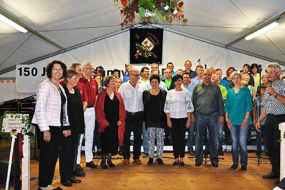 Drei Tage ganz im Zeichen des Gesangs – so feierte der Feuerbacher Gesangverein sein Jubiläum. (Foto: Ilse Wißner)