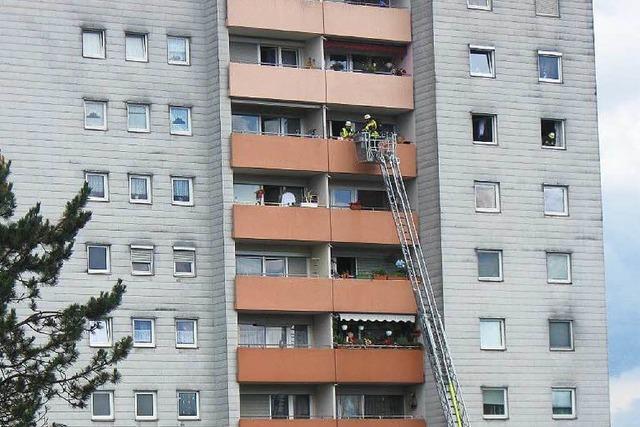 Brand im Hochhaus ging glimpflich aus