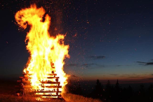 Feuer auf dem Kandel