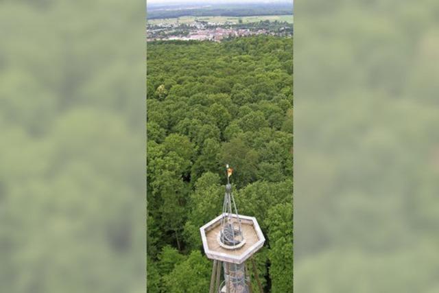 Eichbergturm soll an seinem 10. Geburtstag im September wieder begehbar sein
