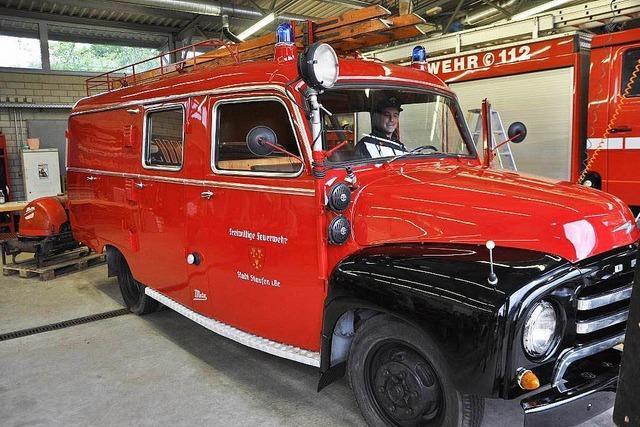 Mit Geduld und Herzblut: Staufener Kameraden restaurieren Feuerwehr-Oldtimer