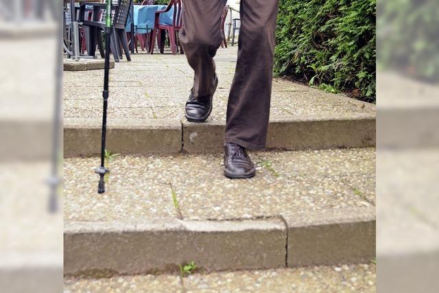 Noch einige Stufen bis zur behindertengerechten Welt