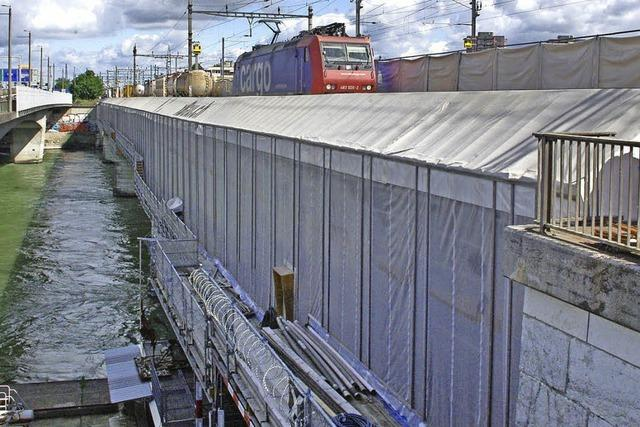 Alte Eisenbahnbrücke soll nach Sanierung leiser werden