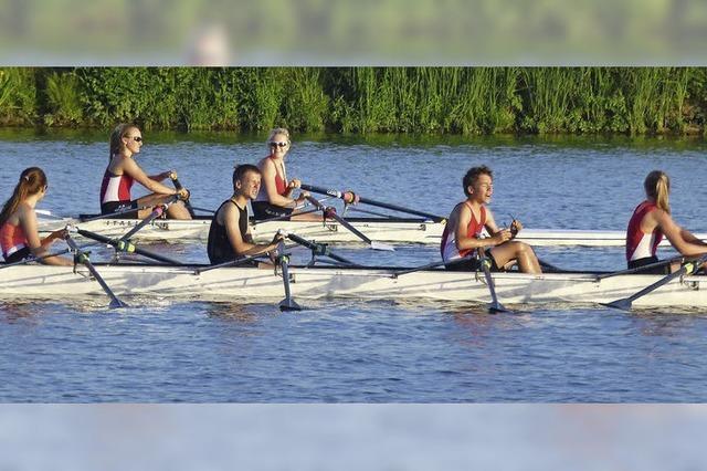Wettkampfvorbereitung auf der Saône