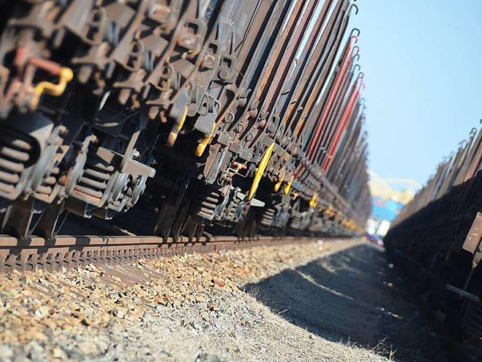 Güterzüge machen die Rheintalstrecke z... darunter so wenig wie möglich leiden.  | Foto: Helmut Seller