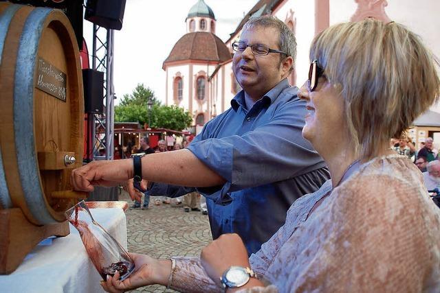 Festauftakt mit Münsterwein