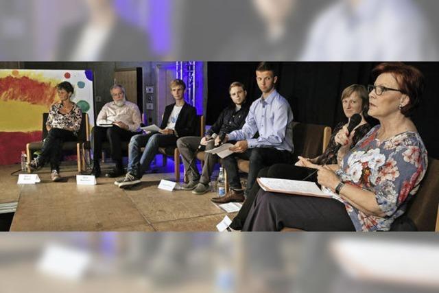 Heidemarie Wieczorek-Zeul diskutiert am DFG bei