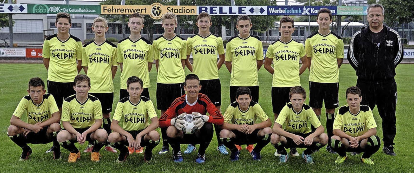 Die C-Jugend-Meistermannschaft der SG ...inger, Niklas Flamm und Robin Schmidt.  | Foto: Jürgen Schweizer