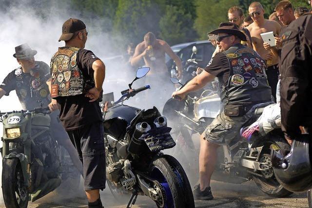 Burn-out-party der Motorradfreunde Hotzenwald in Rickenbach