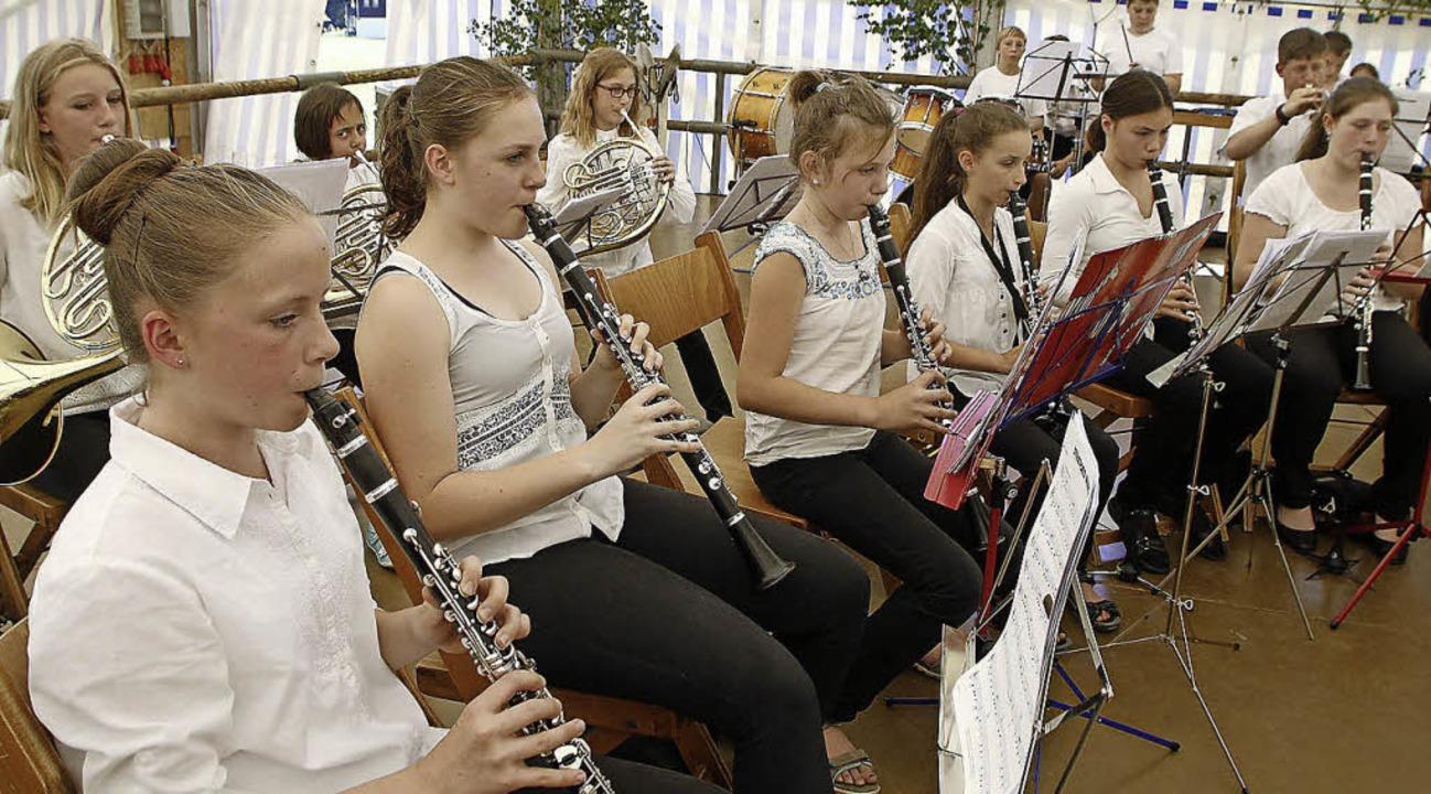 Die Jugendkapelle aus Schuttertal spielte am Sonntag.  | Foto: Heidi Foessel