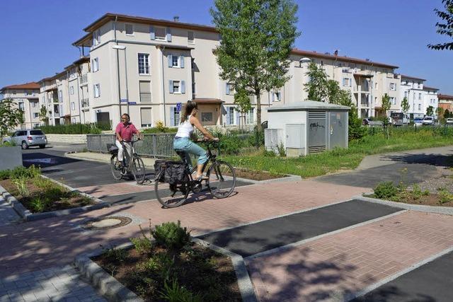Querungshilfe für Radfahrer