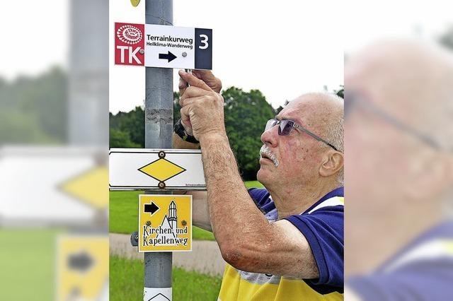 Neue Schilder für Wanderwege