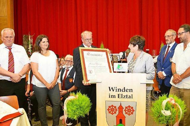 Clemens Bieniger ist Windens erster Ehrenbürger